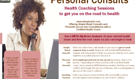 Speak with a certified health coach and get answers to why you are sick.